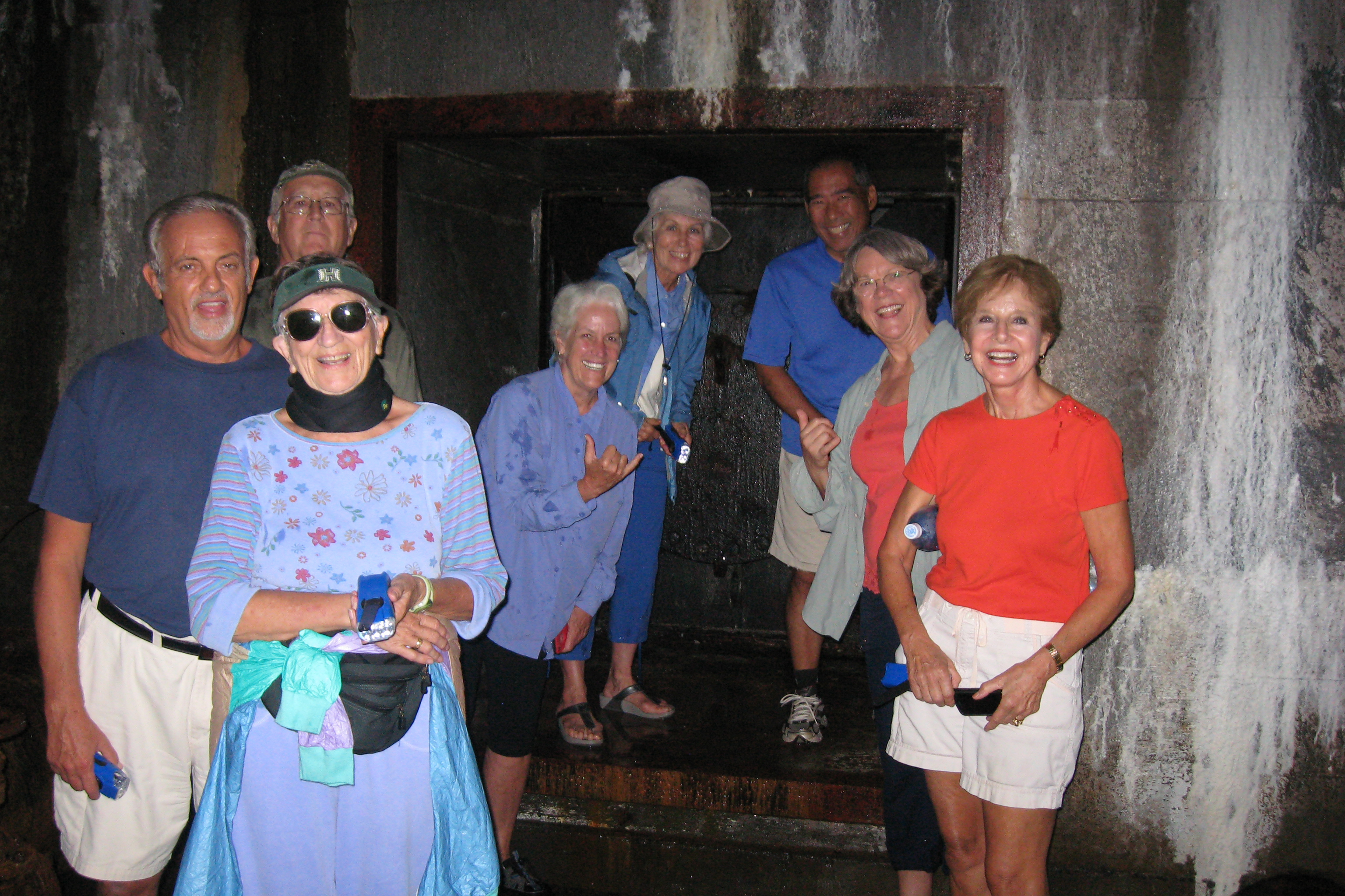 Visitors at water tunnel