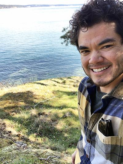 Shayle Matsuda at ocean overlook