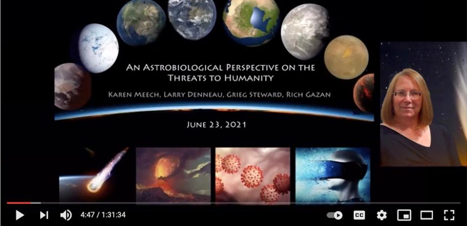 Dr. Karen Meech video on astrobiological threats