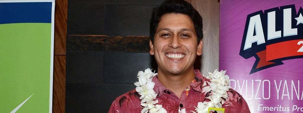 Richard Ordonez in aloha shirt