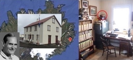 Dr. George Walker inset on East Iceland map and museum