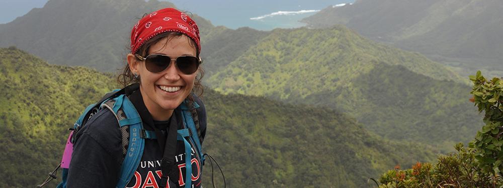 Amy Hruska overlooking ocean