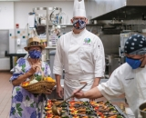 Jacquie Maly and chefs